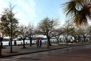 Riverfront Park is among the amenities that make up Wilmington's riverfront, which is among cities listed in an online poll of 'Best American Riverfronts.' File photo.