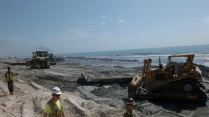 The last Carolina Beach nourishment wrapped in early 2013. Photo by Ben Brown