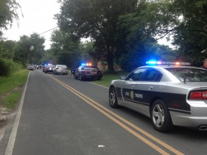 Law enforcement is on the scene of a reported shooting near Rock Hill Road and Ruby Lane in Castle Hayne. Photo by Christina Haley.