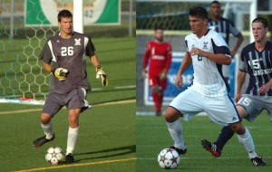 Sean Melvin (left) was named CAA Rookie of the Week and Jacob VanCompernolle was named to CSN's Team-of-the-Week.