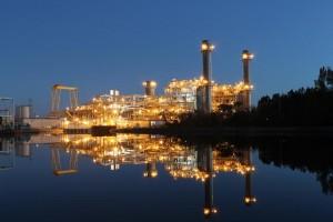 The new natural-gas facility at Duke's Sutton Plant. Photo courtesy Duke Energy.