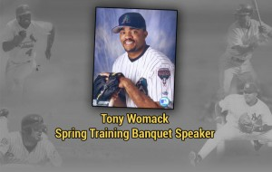 Former World Series champion Tony Womack will be the featured speaker at the Spring Training Banquet on Feb. 1.