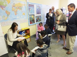 The visit to Douglass' classrooms Friday was kick-off for a statewide tour of charter schools sponsored by Americans for Prosperity Foundation-N.C.