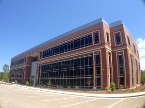 Castle Branch's new office building off Sir Tyler Drive. Its top floor will be the home of a new business incubator called tekMountain. Photo by Ben Brown.