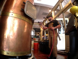 The business of craft brewing, seen here in action at Front Street Brewery, was on tap for discussion at UNCW's Center for Innovation and Entrepreneurship Monday. File photo.
