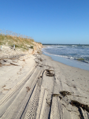 Freeman Park's Zone 18 during high tide. Photo courtesy Town of Carolina Beach.