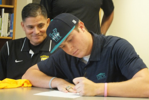 Clark Cota on his signing day in November 2014. Photos by Joe Catenacci