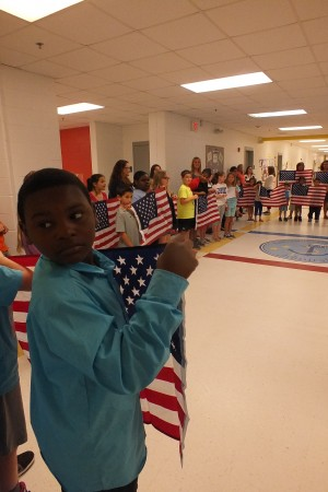 Students at Anderson gave the entire Heppner family a surprise salute as they left school.