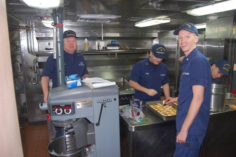Chefs aboard the U.S. Coast Guard Cutter Diligence came out victors in a recent friendly cooking competition with downtown eatery Hell's Kitchen. Photo courtesy John Benedict.
