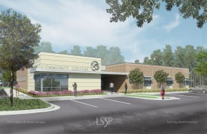 CFCC's new Surf City campus will officially open for classes in late May. Image courtesy CFCC.
