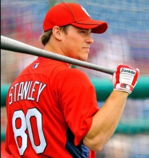 Cody Stanley made his big league debut on Sunday. Photo courtesy- Cody Stanley's Twitter feed.