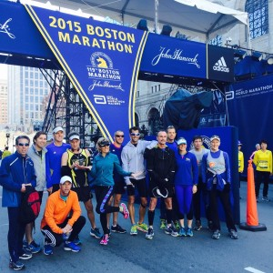 Members of the Wilmington Road Runners Club the day prior to running the Boston Marathon. Facebook photo courtesy- Lauren Truby Vollmin