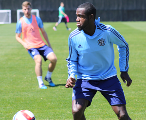 Ashani Fairclough spent the week in New York training with the Hammerheads MLS affiliate. Photo courtesy Wilmington Hammerheads FC