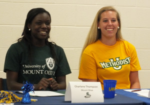 Charlene Thompson, left, and Hannah Key.