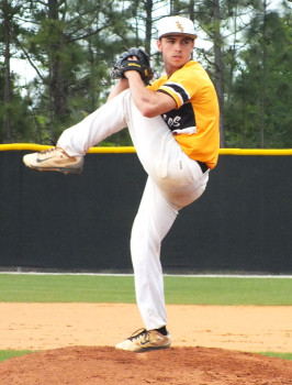 Danny Wilson put in six strong innings on the mound for Topsail.