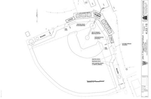 Preconstruction drawings for the new ballpark at Hoggard. Photo courtesy- Friends of Hoggard baseball