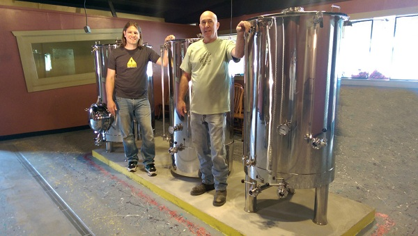John Garcia and his father, Richard Jones, two of the owners of the family-run Good Hops Brewing, are hoping to expand their Pleasure Island business through a Kickstarter campaign. Photo courtesy Good Hops.