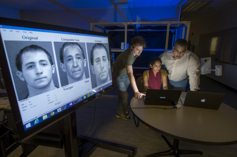 After years of research in facial analytics, Karl Ricanek, right, has created a company to help expedite life expectancy predictions. Photo courtesy UNCW/Jeff Janowski.