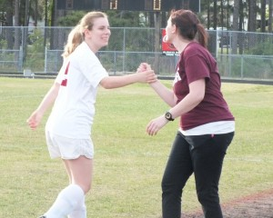 Nina Pinkely received a standing ovation after leaving Tuesday's match. Photos by Joe Catenacci