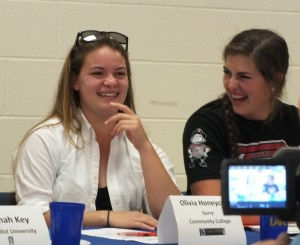 Olivia Honeycutt, left, and Shelby Cook.