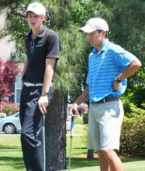 Landon Patterson, left, and Samuel Young, were among the top golfers in the area this season. Photos by Joe Catenacci