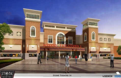 Rendering of the future Stone Theaters movie multiplex planned for midtown Wilmington courtesy of Stone Theaters.