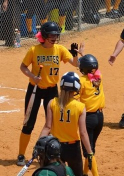 Topsail softball kept their season alive with a seventh inning rally on Friday. Photo courtesy- Jennifer DuRant McLean
