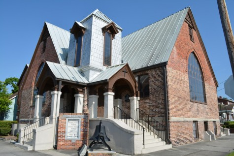 Central Baptist is one of eight downtown churches that will be discussed during a free presentation at Bellamy Mansion tonight. Photo courtesy Bellamy Mansion.