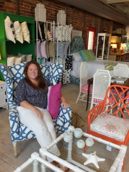 HGTV personality and 'Design Star' winner Meg Caswell's Fifth and Castle Design Shop is the latest addition to Castle Street's booming arts and antiques district. Photos by Hilary Snow.