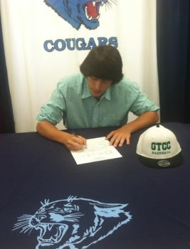 Josh Larson makes his college commitment. Photo courtesy- Mike Anderson