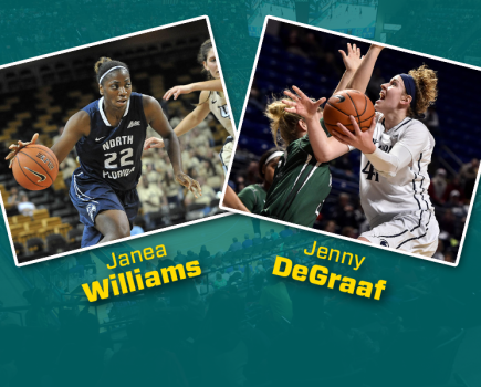 UNCW added some depth to the roster with the additions of Janea Williams and Jenny DeGraaf. Photo courtesy- UNCW sports