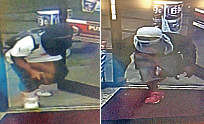 Wilmington police are searching for the suspects in this photo who reportedly robbed a Kangaroo gas station. Photo courtesy of WPD.