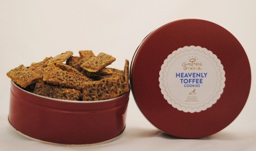 Wilmington-based business Goodness Gracie will feature its signature toffee creations on QVC today. Photo courtesy Goodness Gracie.