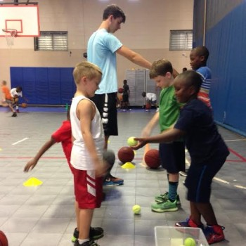 For three days each summer, Ashley basketball runs a camp at the Brigade Club. Photo courtesy- Web Guthrie.