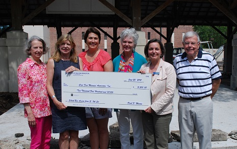 Pictured, from left: Susan Silver, ROW board member and grant chair, Sylvia Kochler, ROW mayor, Alicia Ross, ROW board member, Kitty Yerkes, Cape Fear Museum donor relations director, Sheryl Mays, Cape Fear Museum director and Paul Mason, ROW treasurer. Photo courtesy Cape Fear Museum.
