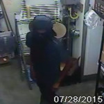 Pictured in this photo is a suspect from an armed robbery Tuesday.