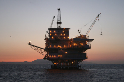 BOEM could start leasing off-shore property for use by oil rigs-similar to this one-off the North Carolina coast. This particular rig is on a BOEM property on the West Coast.