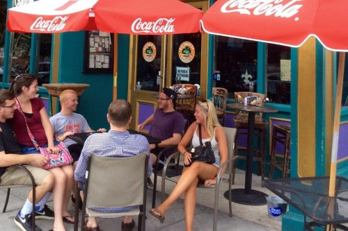 Downtown Wilmington is pushing towards the top spot in a USA Today online poll for best outdoor dining areas in the country. Photo courtesy Wilmington and Beaches Convention and Visitors Bureau.