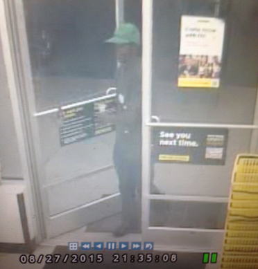 Detectives are searching for the man in this photo, who is suspected of robbing a Dollar General in the Castle Hayne area. Surveillance photo courtesy of NHCSO.