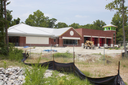 The newest city fire station is about 80 percent complete. Photo by James Mieczkowski.