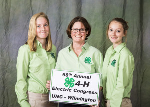 Brunswick County 4'Hers recently attended Electric Congress at UNCW. Photo courtesy N.C. Cooperative Extension.