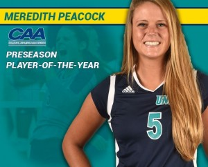 Meredith Peacock was named preseason CAA Player of the Year. Photo courtesy- UNCW sports