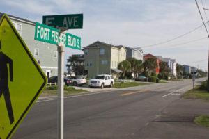 The DOT will begin work on Fort Fisher Boulevard on Sept. 9. Photo by Hannah Leyva.