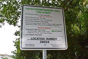 Parking sign on W. Greensboro St. in Wrightsville Beach. Photo by Hannah Leyva.