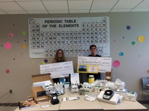 Wilmington Early College was able to purchase a variety of chemistry lab supplies and equipment after winning $2,500 in the inaugural Chem-Techathon competition. Photos courtesy New Hanover County Schools.