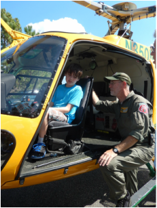 At the festival, a helicopter and other fire equipment will be on display.