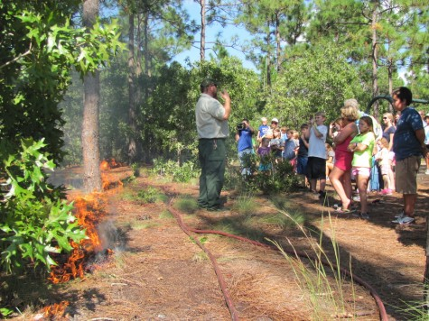 Festival goers can learn the importance of controlled burns
