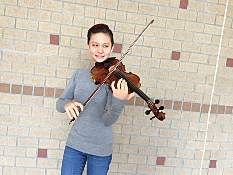 Senior Kaylie Strickland will perform next month with top orchestra students from across the state. Photos courtesy New Hanover County Schools.