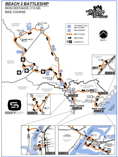 The IRONMAN North Carolina route.