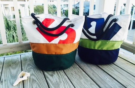 Now a national brand, North Carolina-based Ella Vickers sells handmade bags made from recycled sail cloth. Courtesy photo.